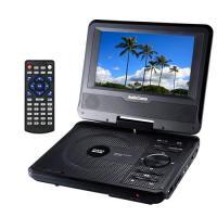 送料無料 ポータブルDVDプレーヤー 7型ワイド 回転式パネル DVDP-372Z AudioComm 07-8372 OHM