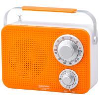 AudioComm ワイドFM キッキン・シャワーラジオ オレンジ RAD-T380N-D 07-8611