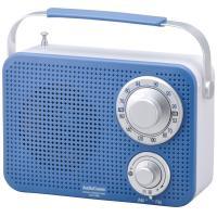 AudioComm ワイドFM キッチン・シャワーラジオ ブルー RAD-T380N-A 07-8612