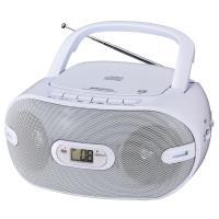 【送料無料】AudioComm CDラジオ 乾電池対応 外部機器接続 ヘッドホン対応 RCR-871Z 07-9803