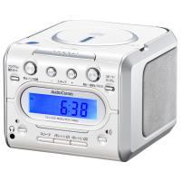 【期間限定特価】【送料無料】AudioComm CDクロックラジオ デジタル 目覚まし時計 ワイドFM対応 RCD-C008Z 07-9808【家電MP_GP】