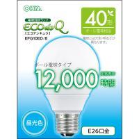 エコデンキュウ 電球形蛍光灯 ボール球 E26 40形相当 昼光色 EFG10ED/8 OHM 06-0274