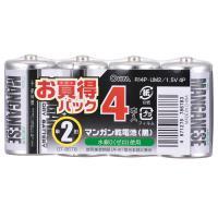 単2形 マンガン乾電池 4本入 R14P-UM2/1.5V 4P 07-8678