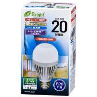 LED電球 一般電球形 E26 20W形相当 昼光色 明暗+人感センサー 330lm 全長115mm E-Bright_LDA3D-H R20 06-3116