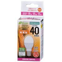 LED電球 ミニクリプトン形 E17 40形相当 電球色 4.4W 490lm 広配光 78mm OHM 密閉器具 断熱材施工器具対応 LDA4L-G-E17 IH21 06-3352
