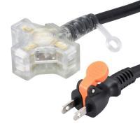 オーム電機 作業用コード 3個口 10m らく抜き&通電ランプ付 ブラック HS-EL3100F3-K 00-4360 OHM