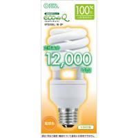 エコデンキュウ 電球形蛍光灯 スパイラル形 100形相当 E26 電球色 EFD25EL/18-SP OHM 06-0277
