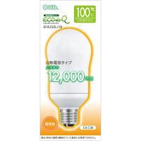 エコデンキュウ 電球形蛍光灯 一般電球形 100形相当 E26 電球色 EFA25EL/18 OHM 06-0285
