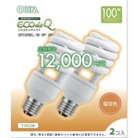 【20個セット】送料無料 エコデンキュウ 電球形蛍光灯 スパイラル形 E26 100形相当 電球色 EFD25EL/18-SP OHM st-0279