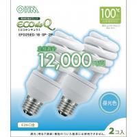 【80個セット】送料無料 エコデンキュウ 電球形蛍光灯 スパイラル形 E26 100形相当 昼光色 EFD25ED/18-SP OHM st-0280s