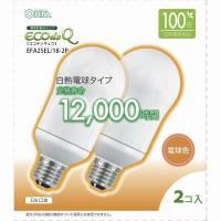 【80個セット】送料無料 エコデンキュウ 電球形蛍光灯 一般電球形 E26 100形相当 電球色 EFA25EL/18 OHM st-0287s