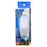 LED電球 円筒型電球形 E26 100形相当 昼光色 9.4W 1176lm 広配光 130mm OHM 密閉器具 断熱材施工器具対応 LDT9D-G-IS9 04-2200