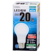 LED電球 一般電球形 E26 20形相当 2.0W 230lm 昼白色 全方向タイプ 106mm OHM 密閉器具対応 LDA2N-G-AG5 06-1732