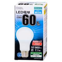 LED電球 一般電球形 E26 60形相当 7.1W 860lm 昼白色 全方向タイプ 106mm OHM 密閉器具対応 LDA7N-G-AG5 06-1736