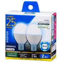 LED電球 ミニクリプトン形 E17 25形相当 広配光 密閉器具・断熱材施工器具対応 昼光色 2個入_LDA2D-G-E17IH9-2P 06-0778