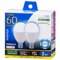 LED電球 ミニクリプトン形 E17 60形相当 7W 昼光色 広配光200° 密閉器具 断熱材施工器具対応 2個入 LDA7D-G-E17IH9-2P 06-0782