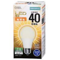 LED電球 一般電球形 E26 40形相当 電球色 4.2W 510lm 広配光 108mm OHM 密閉器具対応 LDA4L-G AS24 06-3175