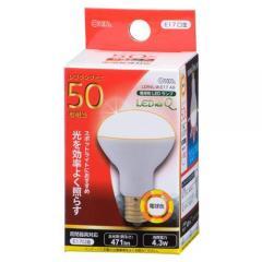 オーム LED電球 レフランプミニ形 E17 50形相当 4W 電球色 広角タイプ150° LDR4L-W-E17 A9 06-0769 OHM オーム電機
