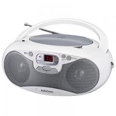 CDラジオ ワイドFM対応 シルバー AudioComm RCR-530N-S 07-8847