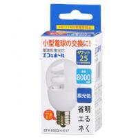 【24個セット】送料無料 エコなボール 電球形蛍光灯 一般電球形 E17 25形相当 昼光色 EFA10ED/4-E17 OHM st-3208