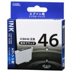 エプソン ICBK46対応 互換インクカートリッジ ブラック INK-E46B-BK 01-4092