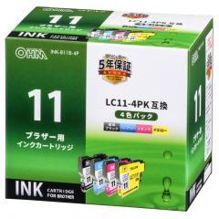 ブラザー LC11-4PK対応 互換インクカートリッジ 4色パック INK-B11B-4P 01-4172