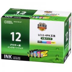 ブラザー LC12-4PK対応 互換インクカートリッジ 4色パック_INK-B12B-4P 01-4181