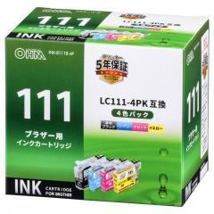 ブラザー LC111-4PK対応 互換インクカートリッジ 4色パック INK-B111B-4P 01-4186