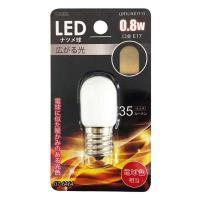 LEDナツメ球 E17 0.8W 電球色 LDT1L-H-E17 11 07-6464