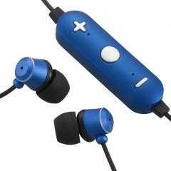 ワイヤレスイヤホン ステレオイヤホン スマホ対応 音漏れ低減密閉型 ブルー AudioComm HP-WBT180Z-A 03-1683