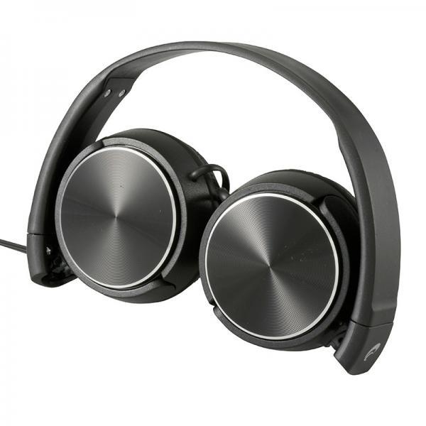 AudioComm コンパクトヘッドホン ブラック _HP-H240N-K 03-2804