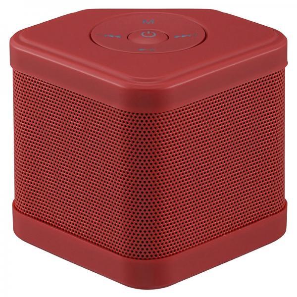 AudioComm ワイヤレスキュービックスピーカー W110 レッド_ASP-W110N-R 03-3179