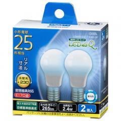 LED電球 小形 E17 25形相当 昼光色 2個入り LDA2D-G-E17IH92-2 06-3436     【10%OFFクーポンコード:HNYN6CX】