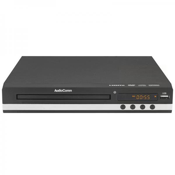 DVDプレーヤー MP3再生 HDMI端子付 AudioComm OHM_DVD-718H 06-3450