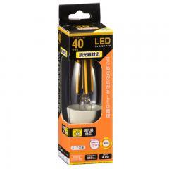 LED電球 フィラメント シャンデリア形 E17 40W相当 調光器対応 クリア 電球色 全方向_LDC4L-E17/D C6 06-3486
