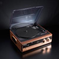 【特典付 交換針3本プラス】送料無料 AudioComm レコードプレーヤーシステム RDP-B200N 07-5754P