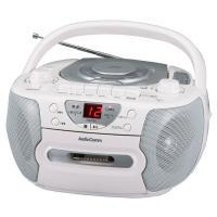 【送料無料】CDラジカセ ワイドFM対応 シルバー AudioComm RCD-595N-S 07-7793