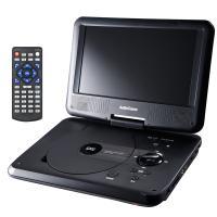 【期間限定特価】ポータブルDVDプレーヤー 9型ワイド 回転式パネル DVDP-373Z AudioComm 07-8373 OHM