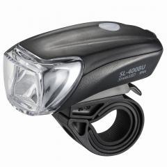 LEDサイクルライト USB充電式 OHM SL-200BU-K 07-6376