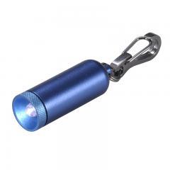 LED懐中電灯 IPX4 10lm ボタン電池 LR41×4個 カラビナ型キーリング OHM_LED-YK4-B 07-8249   【10%OFFクーポンコード:KWDYK7W】