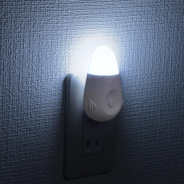 ナイトライト 停電時緊急点灯 スイッチ式 白色LED_NIT-ASWB4-W 07-8863