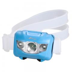 LEDヘッドライト IPX6 90lm 単4×3本 白色明るさ強弱 赤白点滅 照射角度調整機能 LC-SH10AS-A 07-9876