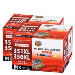 【2個セット】キヤノンBCI-351XL+350XL/5MP互換インク 5色入 INK-C351350XLB-5P st01-4164
