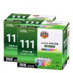 【2個セット】ブラザーLC111-4PK互換インク 4色入 INK-B111B-4P st01-4186