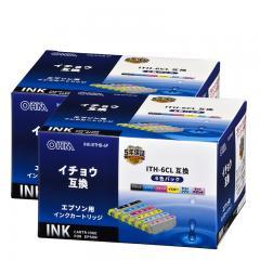 【2個セット】エプソンイチョウ ITH-6CL互換インク 6色入 INK-EITHB-6P st01-4307