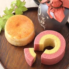 お祝い 内祝い 誕生日プレゼント ギフト 焼酎ケーキ&ピンクバウム※14時までの注文で即日発送 imo