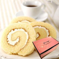 ホワイトデー 2021 チョコ プレゼント スイーツ 選べる!カットタイプふわふわロールケーキ【プレーン】※3/9以降発送