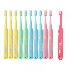 タフト17(プレミアムソフト) 歯ブラシ10本 + 艶白3歳~7歳用(S)1本(色はおまかせ)子供用 乳歯列期 歯科専売品 【タフト17】