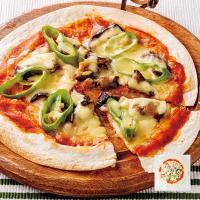 手作り 万願寺唐辛子と茄子のピザ