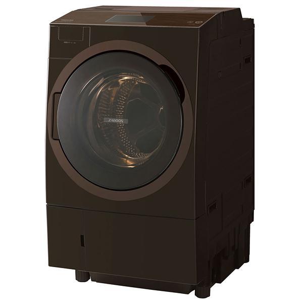 東芝 TW-127X8L(T) グレインブラウン ZABOON [ドラム式洗濯乾燥機 (洗濯12.0kg/乾燥7.0kg) 左開き] 新生活 生活家電 家電